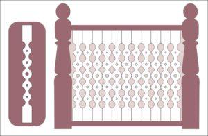 Балясины, забор
